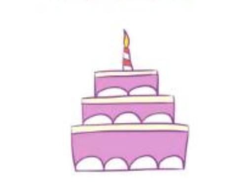 三层生日蛋糕简笔画