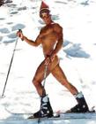 滑雪搞笑图片