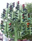 十字路口红绿灯创意图片