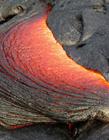 熔岩迸发景象