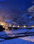 黄昏时的日本美景