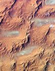人造卫星拍摄沙漠景象