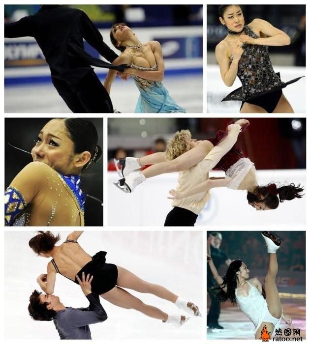 花样滑冰美女搞笑瞬间 体育图片
