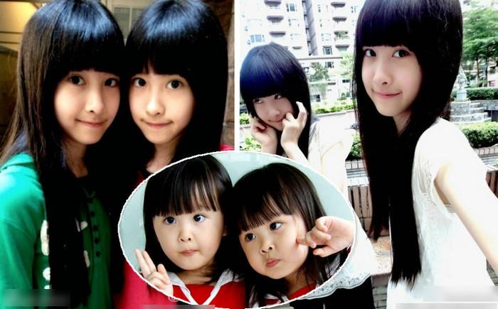 台湾人气双胞胎美女姐妹曝近照