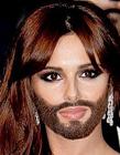 国外女明星被恶搞大胡子造型