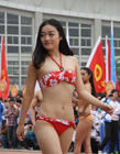 陕西大学运动会比基尼美女亮相
