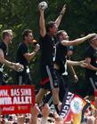 世界冠军德国国家队凯旋回国
