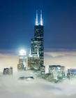 芝加哥摩天大楼直入云端照片
