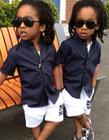 英国伦敦3岁帅气双胞胎兄弟