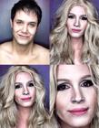 菲律宾男艺人化妆变好莱坞女明星