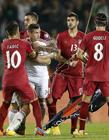 足球场打架,塞尔维亚与阿尔巴尼亚球员群殴