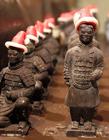 秦始皇陵兵马俑用巧克力制作迎接圣诞节