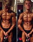 肌肉少年,14岁肌肉男