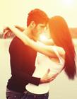 男女接吻唯美图片