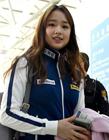 亚运第一美女孙妍在现身韩国仁川国际机场