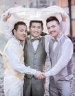 泰国3名男子喜结连理 系世界首例三人同性婚礼