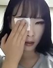 韩国美女卸妆后
