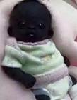南非世界上最黑的孩子出生
