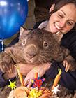 澳大利亚最老袋熊帕特里克度过30岁生日