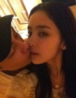 古力娜扎舌吻照图片
