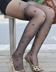 街拍黑薄丝长腿美女