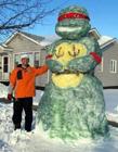 堆雪人图片 冬天堆雪人图片 各地奇葩雪人