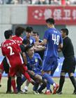 中国足球打架事件 江苏苏宁武汉宏兴打架