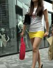 街拍超短包臀裙大图