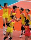女排vs塞尔维亚 中国女排夺冠