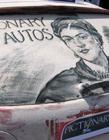 车窗上的艺术 车窗灰尘画