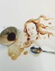 咖啡渍作画
