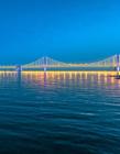 天津滨海新区夜景