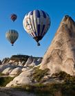 卡帕多西亚的热气球图 土耳其热气球