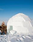 因纽特人的冰屋 因纽特人的雪屋
