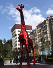 长颈鹿雕塑 最高的长颈鹿