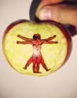 苹果剪纸图片 苹果简单艺术品