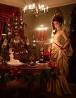 圣诞节城堡姜饼屋图片 圣诞姜饼城堡