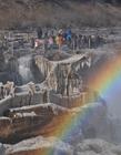 黄河壶口瀑布冬天图片