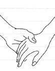 两个人手牵手怎么画 牵手简笔画