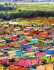 彩色的小镇 彩色房子小镇