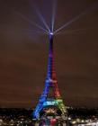 埃菲尔铁塔灯光秀图片