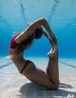 水下瑜伽图片 瑜伽高手水下