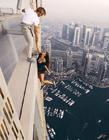 高楼危险照片 高楼作死照片