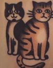 宠物纹身图案 猫狗纹身图案