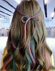 女生五颜六色发型 五颜六色的头发图片