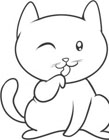 猫简笔画图片大全 小猫简笔画步骤图解