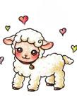小绵羊简笔画图片大全 可爱小绵羊简笔画