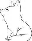 狼的简笔画图片大全 狼的简笔画画法步骤