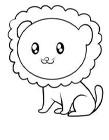 狮子简笔画图片大全 狮子怎么画简笔画