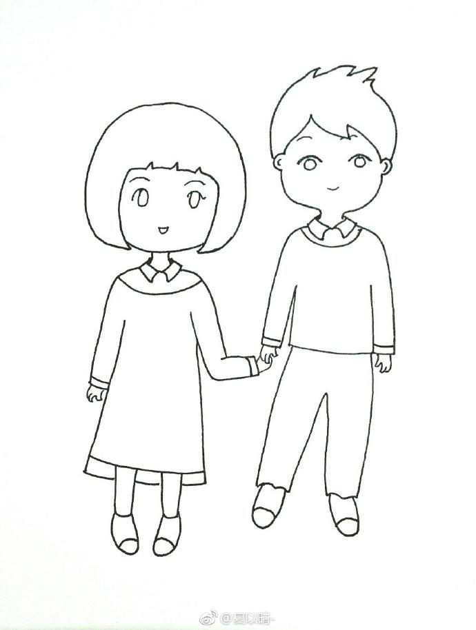 一笔一笔教画卡通女生